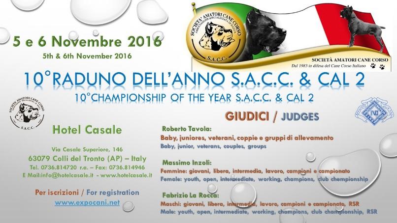 Expocani Calendario.Raduno Dell Anno Championship Of The Year Cane Corso